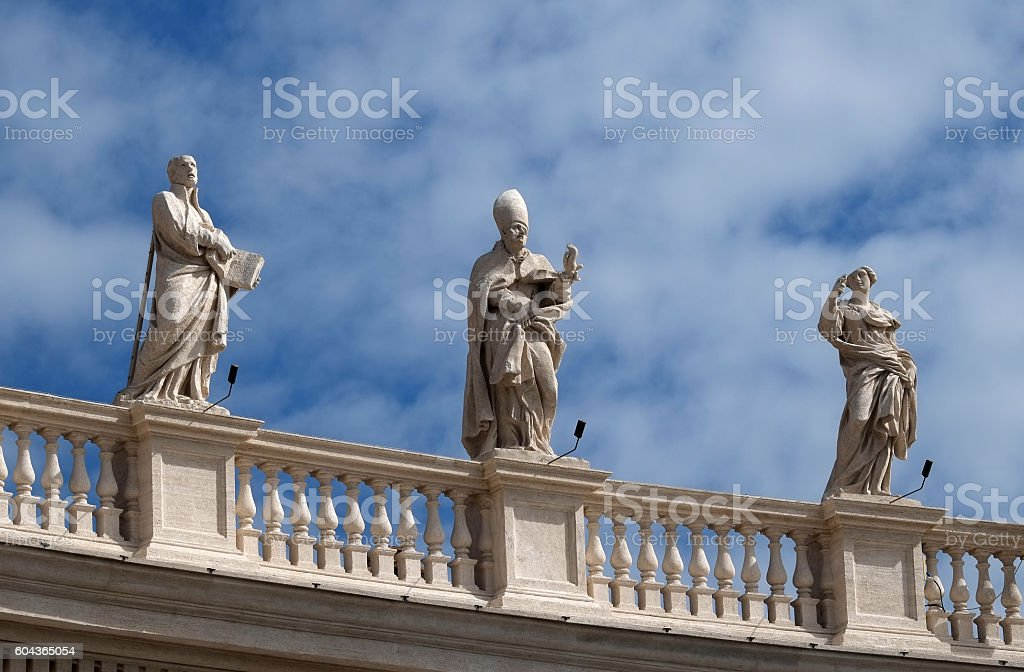 Roma - Piazza San Pietro stock photo