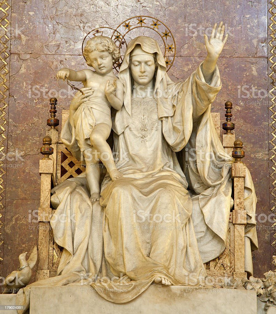 Rome - statue of Madonna royalty-free stock photo