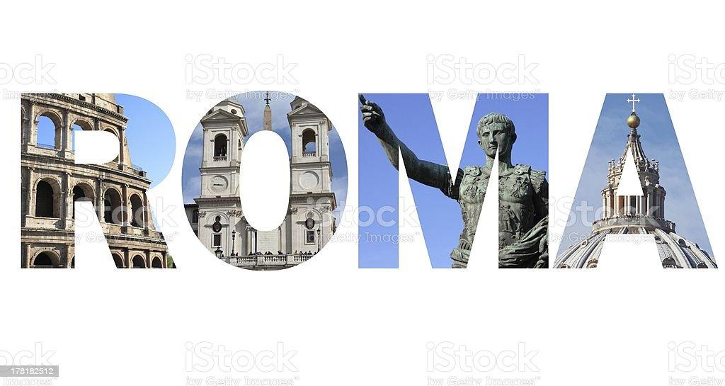 Rome text royalty-free stock photo