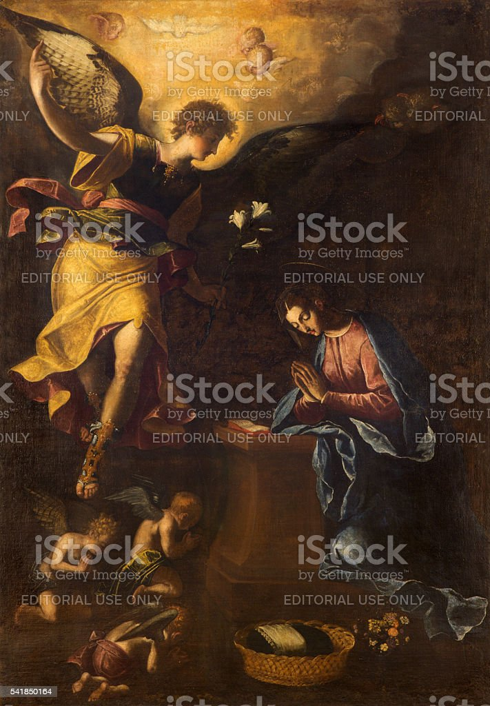 Rome - The Annunciation paint by Francesco Nappi stock photo