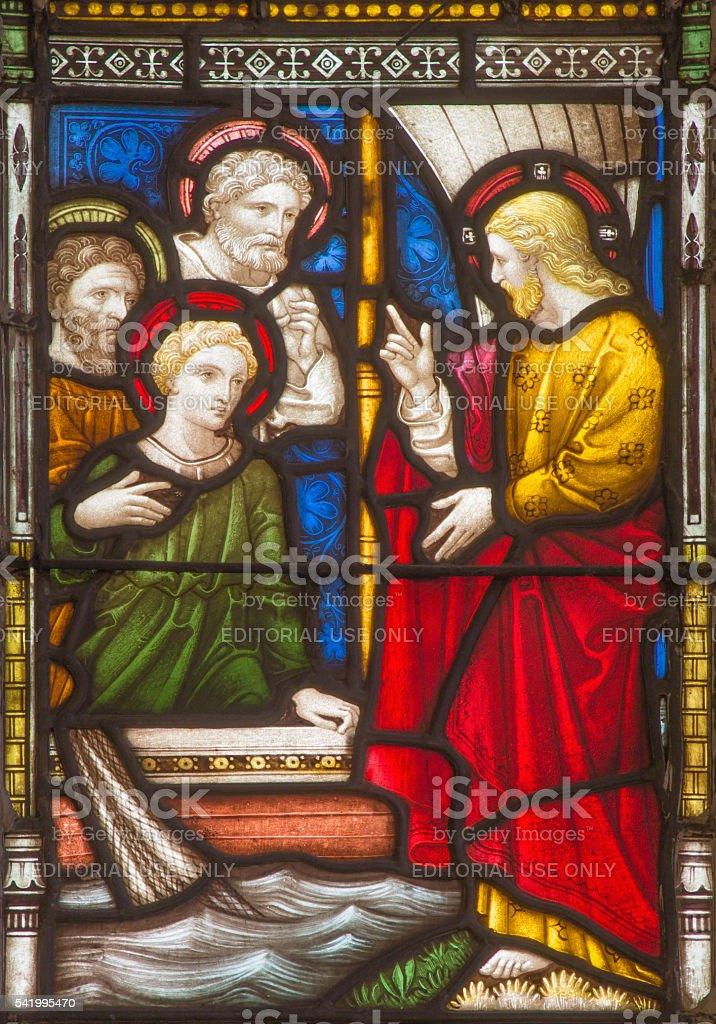 Rome - The calling of the twelve apostles stock photo