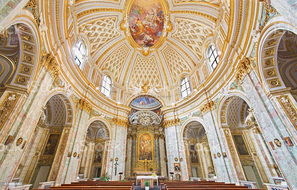Rome - The church Chiesa della Santissima Trinita degli Spanoli. stock photo