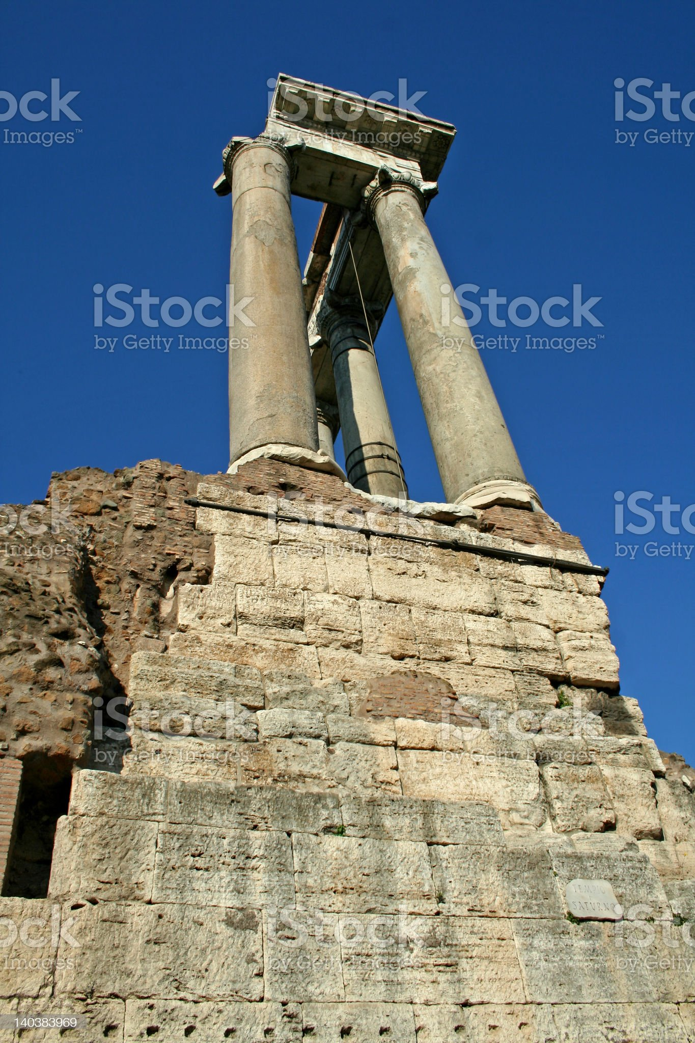 Rome, the columns of a temple royalty-free stock photo