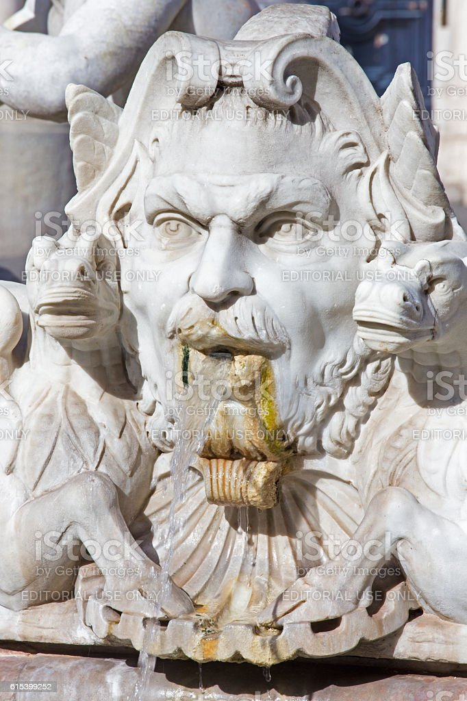 Rome - The detail of fountain Fontana del Moro stock photo