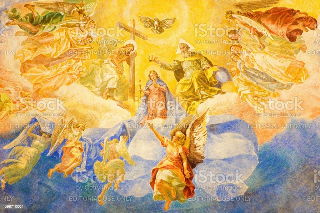 Rome - The fresco Coronation of Our Lady stock photo