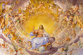 Rome - The fresco of Christ the Redeemer in Glory