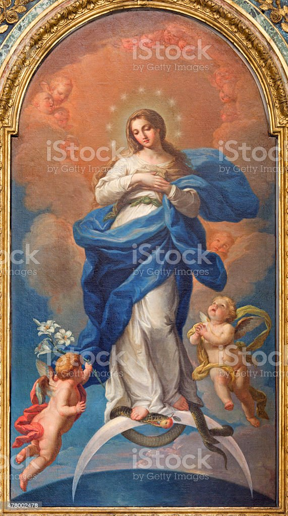 Rome - The Immaculate Conception paint stock photo