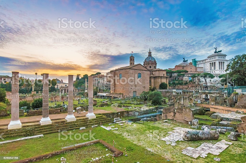 Rome (Italy) - The Imperial Fora stock photo