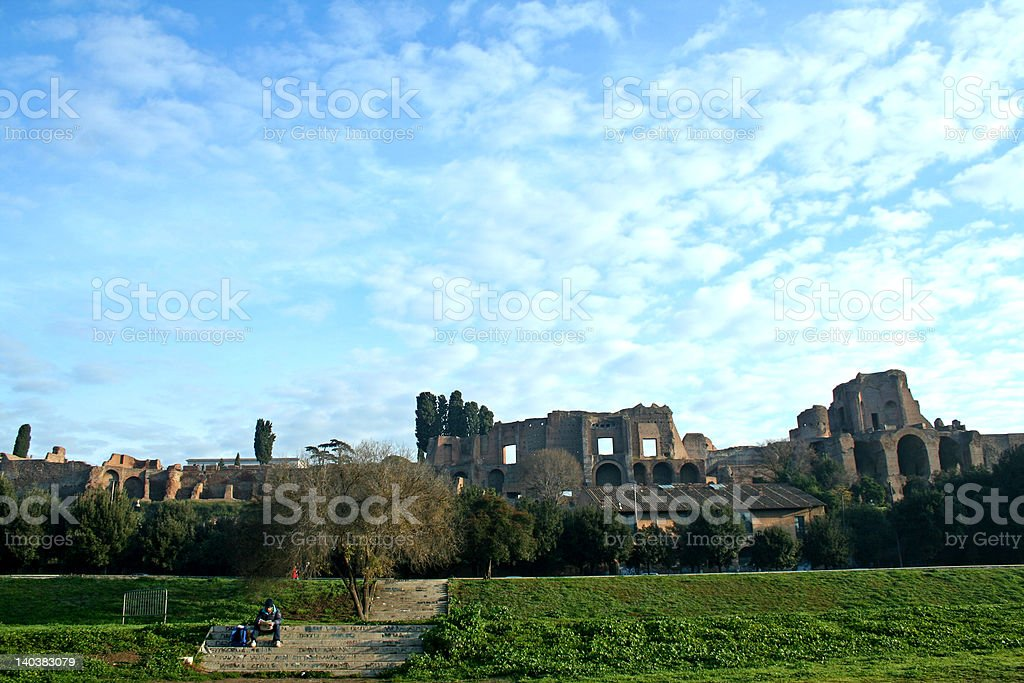Rome, the imperial palaces royalty-free stock photo