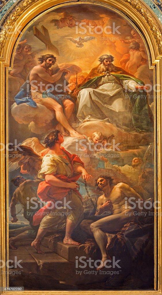 Rome - The Paint Holy Trinity stock photo