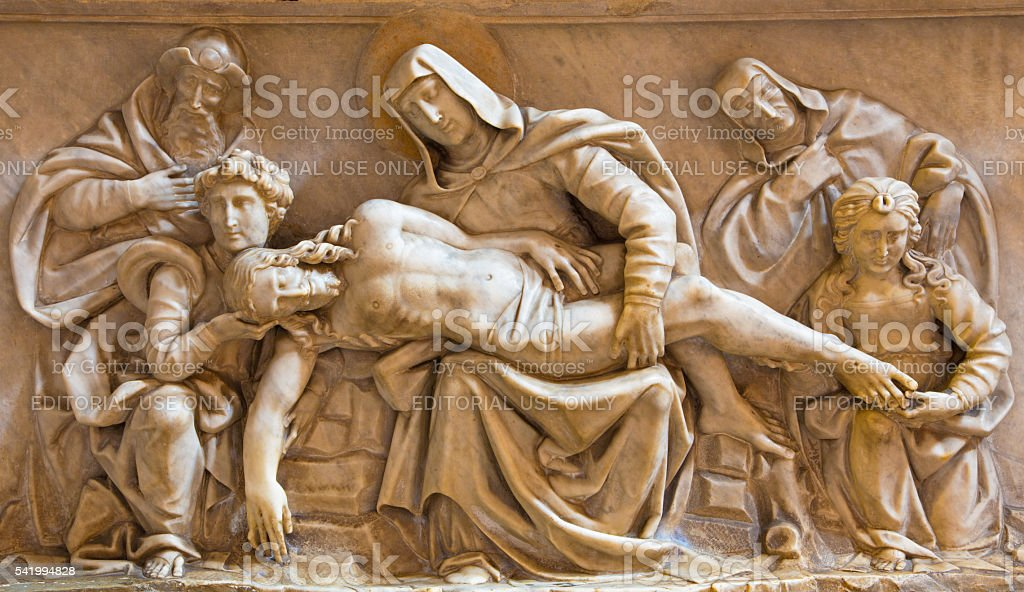 Rome - The Pieta marble relief stock photo
