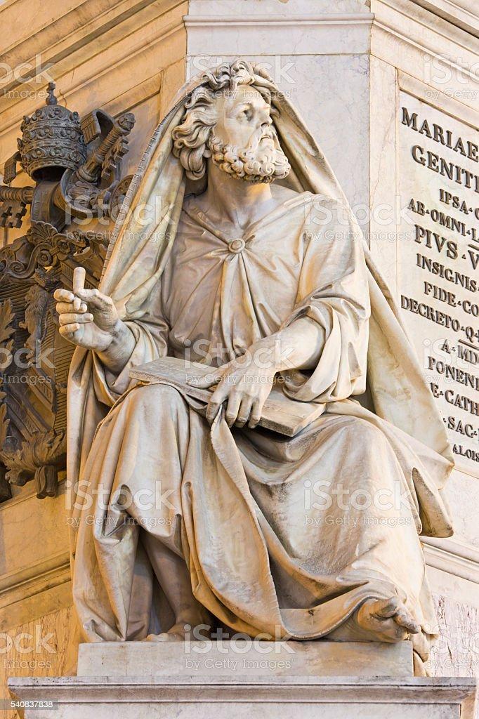 Rome - The prophet Isaiah statue stock photo