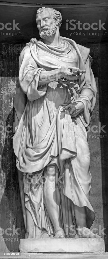 Rome - The sculpture of st. Peter stock photo