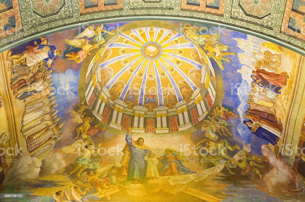 Rome - The St Joseph the Patron of the Church stock photo