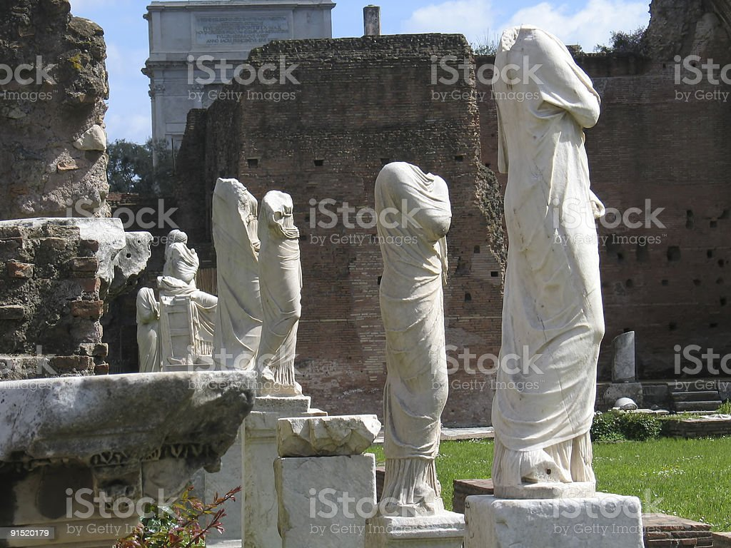 Rome, the vestals palace stock photo