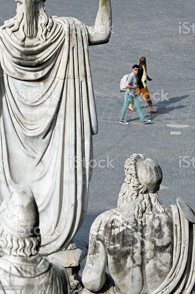Rome Tiber Aniene royalty-free stock photo