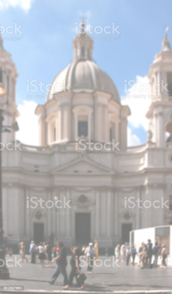 Rome Urban Blurred Background stock photo