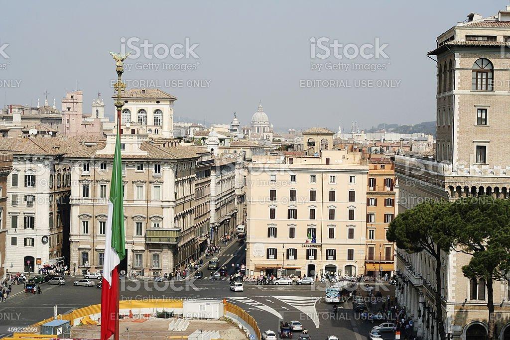 Rome view from Altare Della Patria, Italy royalty-free stock photo
