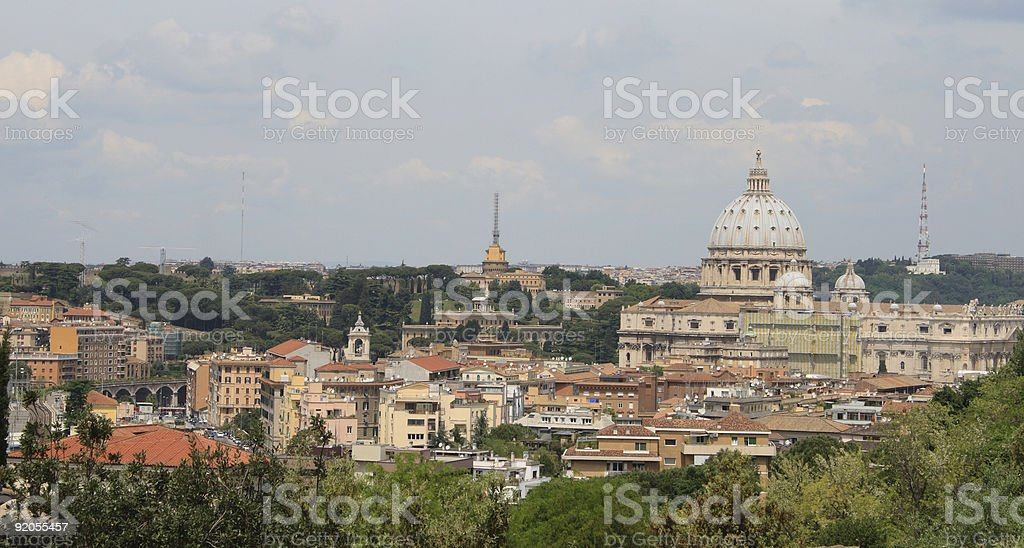 Rome- view from Gianicolo royalty-free stock photo