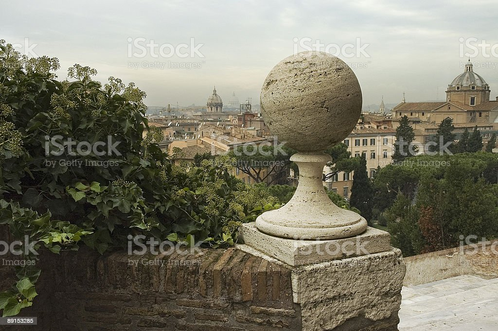 Rome, View of the City with St.Peter's Basilica royalty-free stock photo