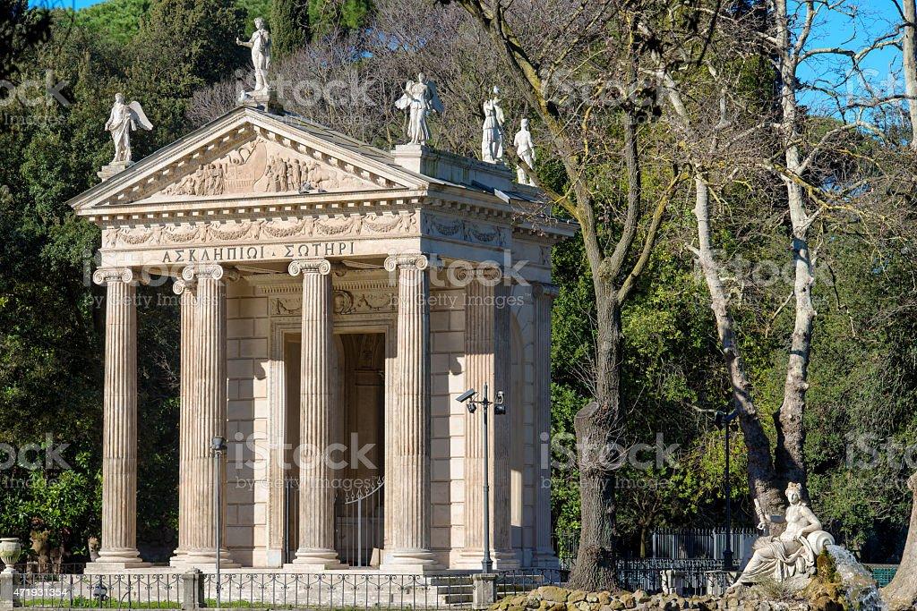 Rome Villa Borghese Temple of Aesculapius - 2 stock photo