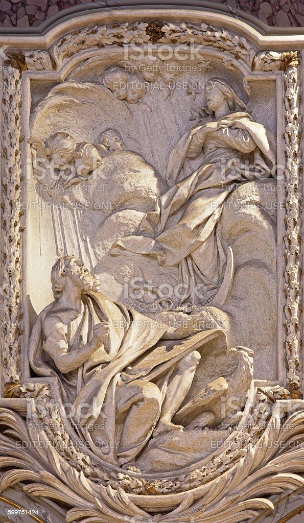 Rome - Vision Virgin from Apocalypse of St. John stock photo
