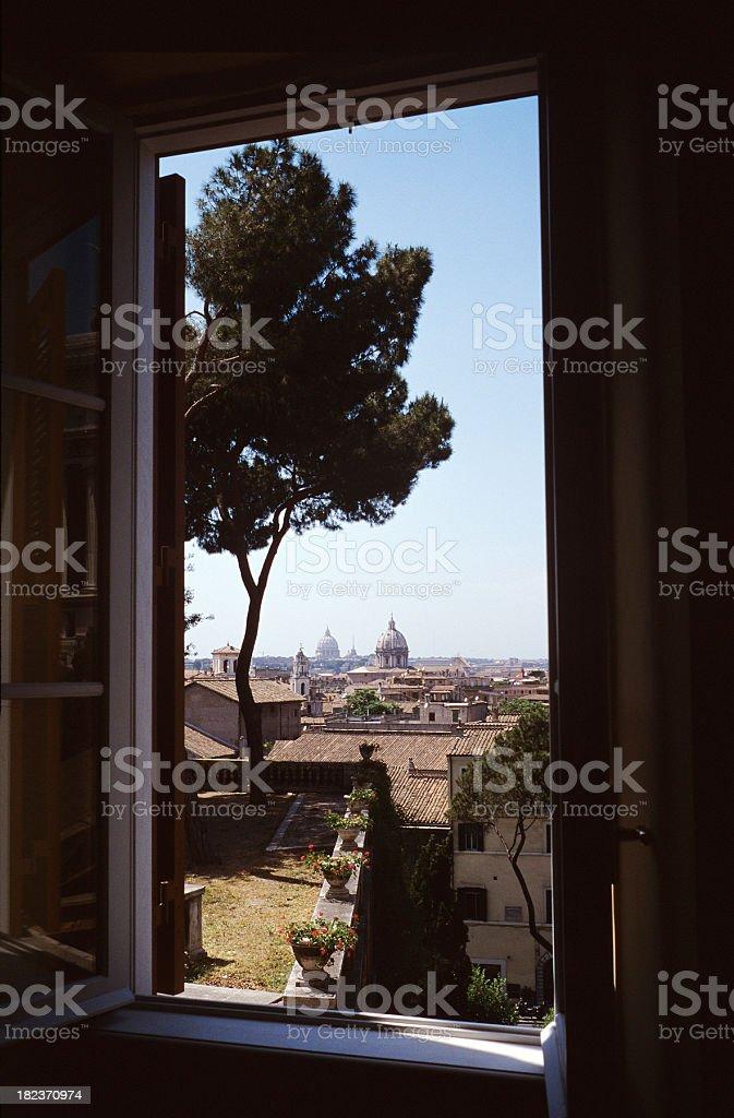 Rome window royalty-free stock photo