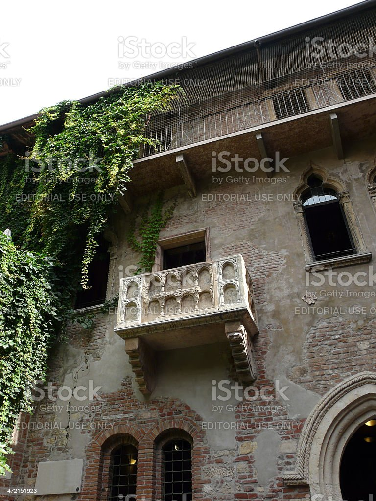 Romeo and Juliet balcony stock photo