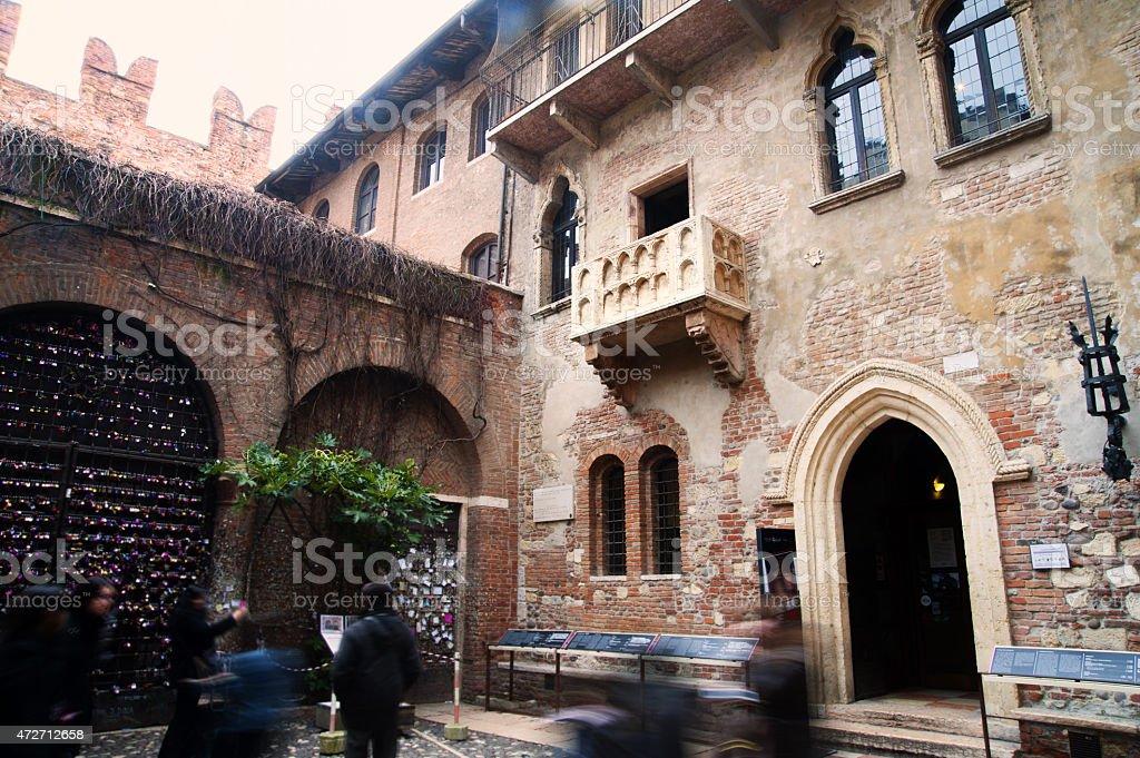 Romeo and Juliet Balcony Verona stock photo