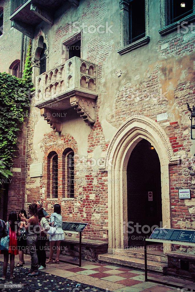 Romeo and Juliet's Balcony stock photo