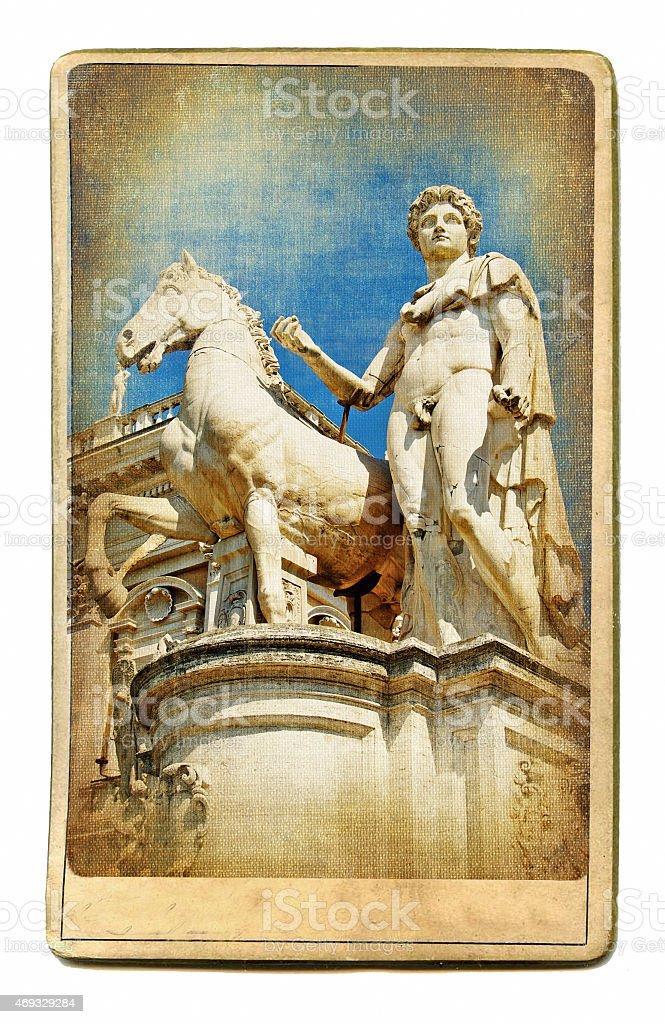 Rome,Vintage Card stock photo