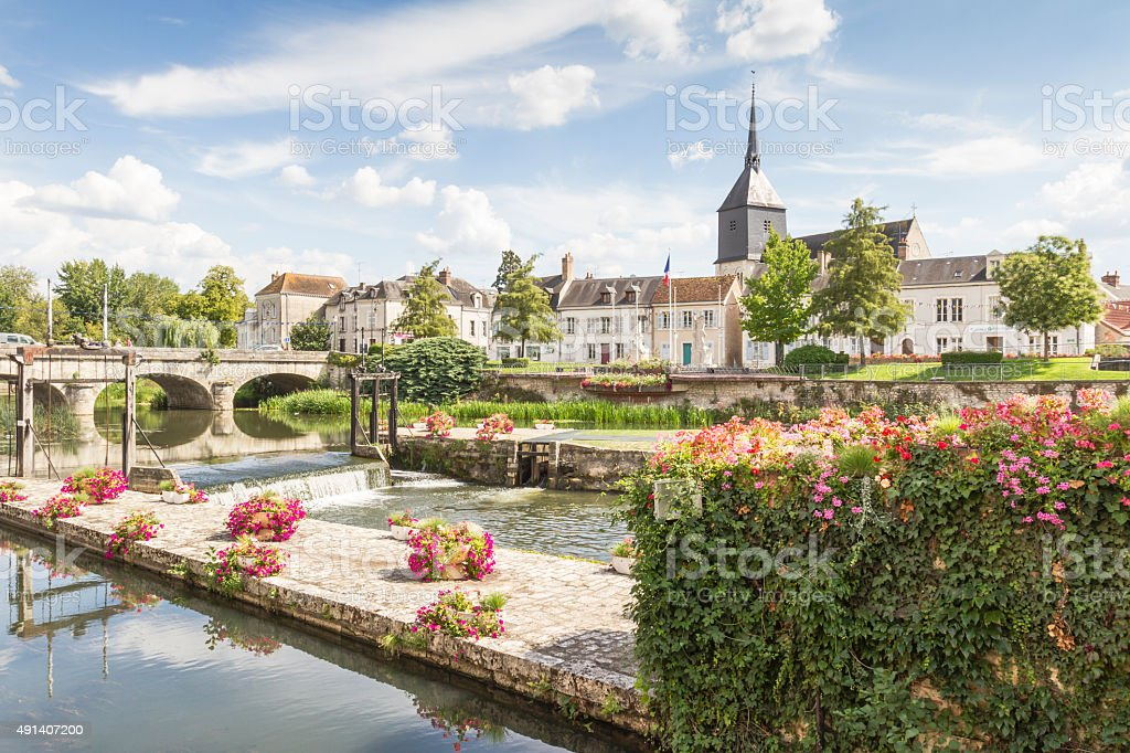 Romorantin-Lanthenay - La vieille ville et la Sauldre stock photo