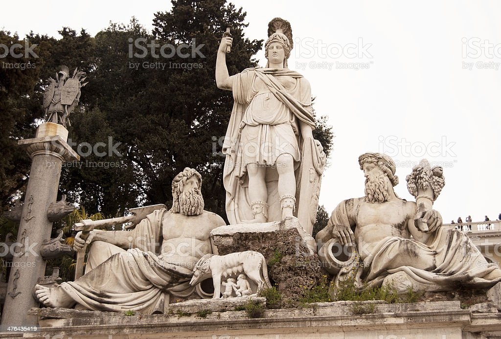 Romulus and Remus, Founders of Rome royalty-free stock photo