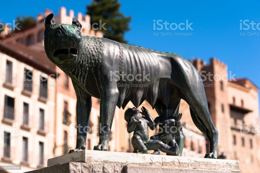 Romulus and Remus stock photo