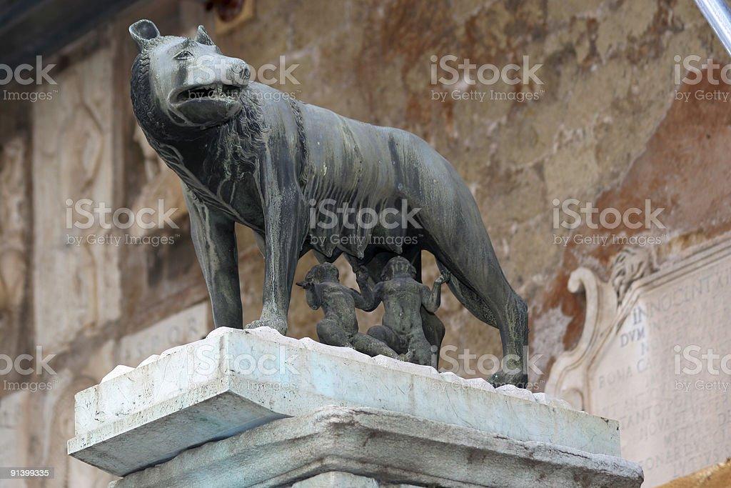 Romulus and Remus stock photo