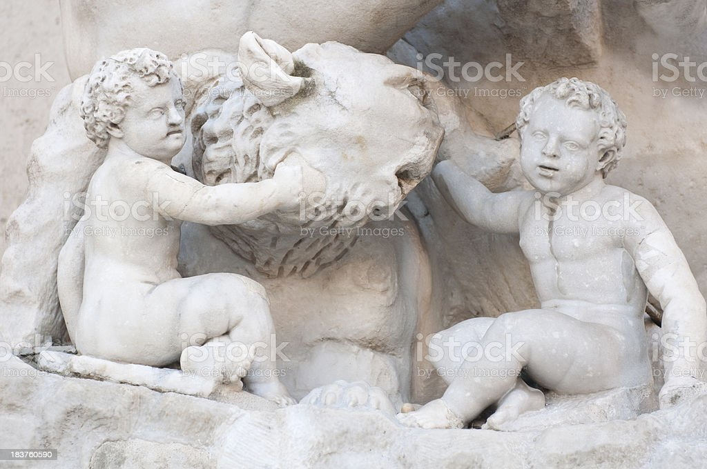 Romulus and Remus statues in Rome stock photo