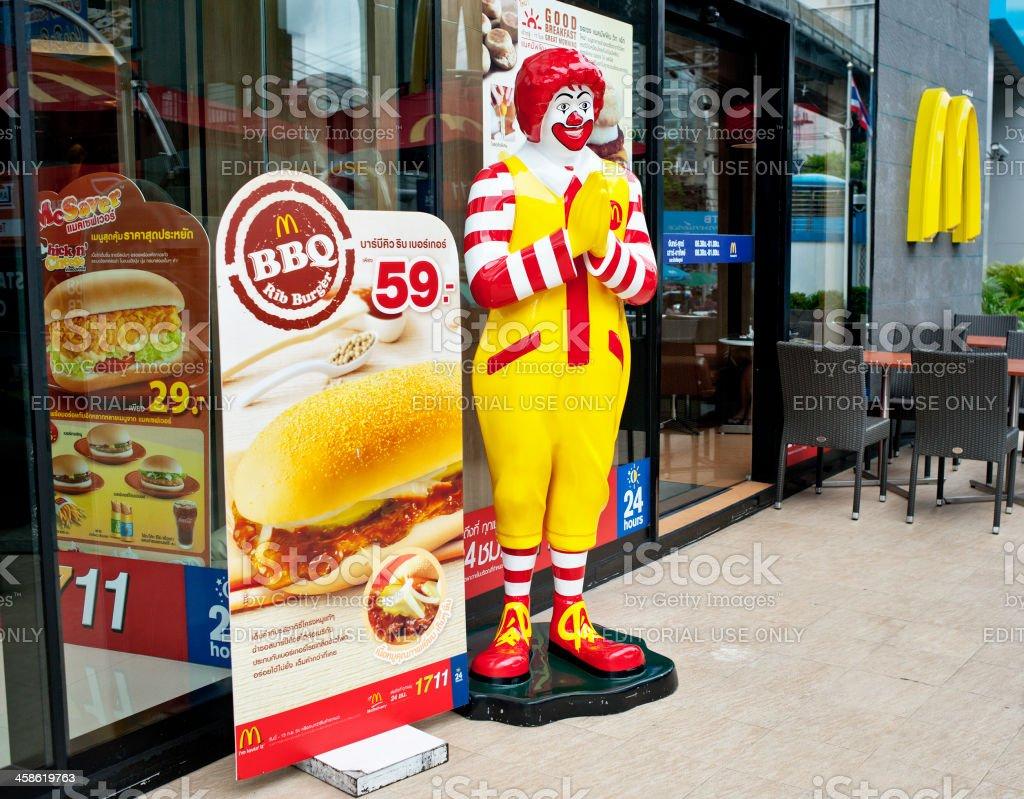 Ronald McDonald in Bangkok, Thailand royalty-free stock photo
