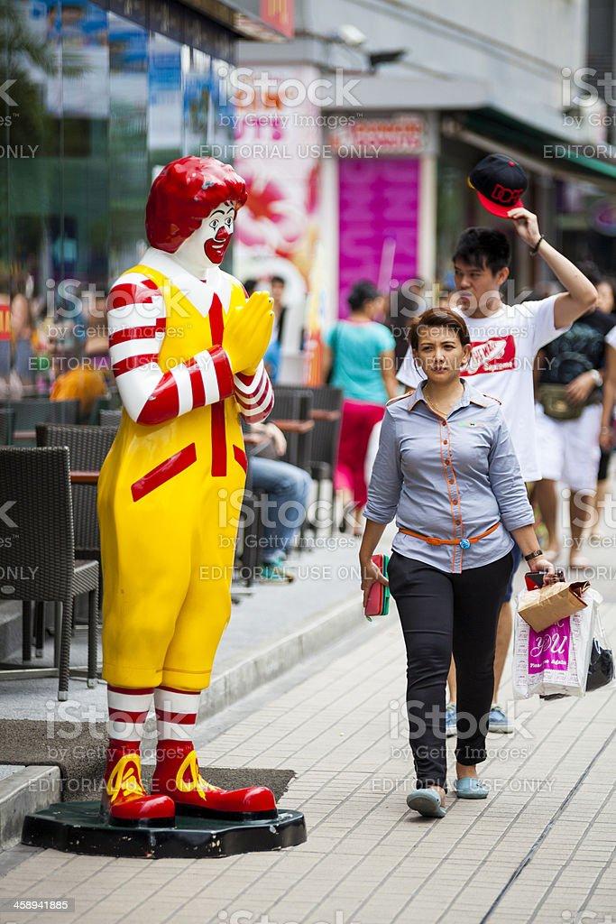 Ronald McDonald Wai, Bangkok, Thailand royalty-free stock photo