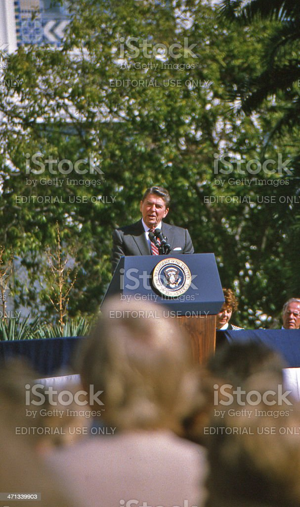 Ronald Reagan stock photo