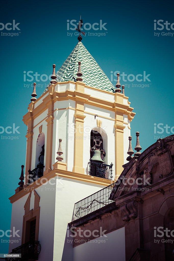 Ronda, Andalucia, Spain: Plaza Del Socorro Church stock photo