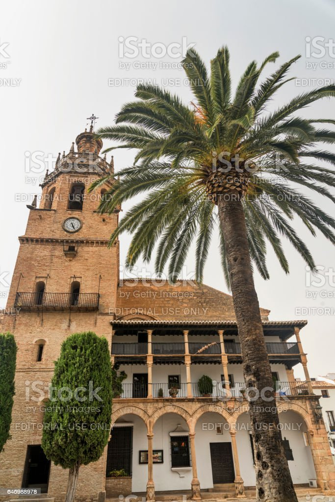 Ronda (Andalucia, Spain): church stock photo