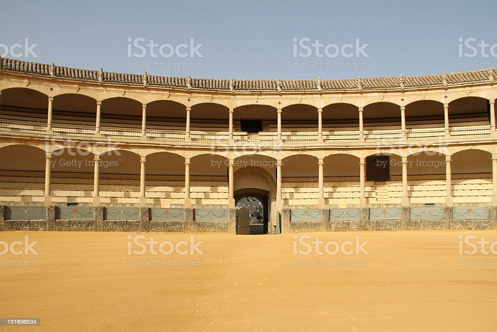 Ronda famous bullring stock photo