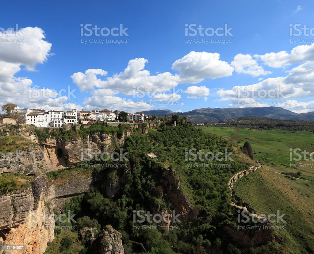 Ronda gorge and view to mountains royalty-free stock photo