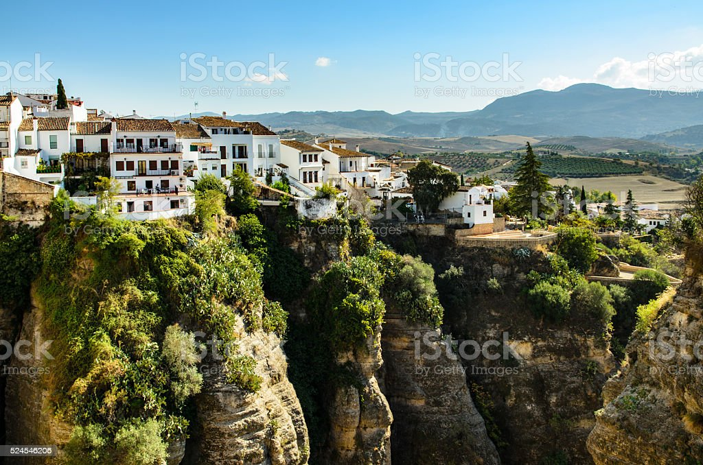 Ronda - Hilltop town in Spain stock photo