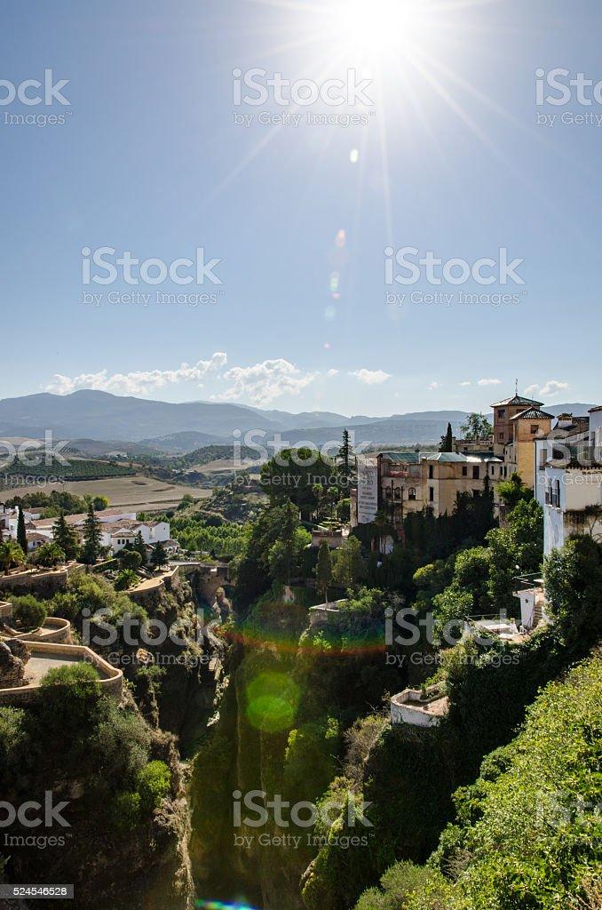 Ronda - Hilltop town in Spain stock photo