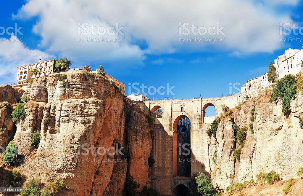 Ronda, Malaga Province, Andalusia, Spine stock photo