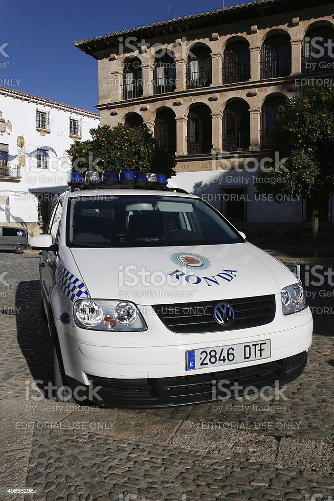 Ronda Police Car royalty-free stock photo