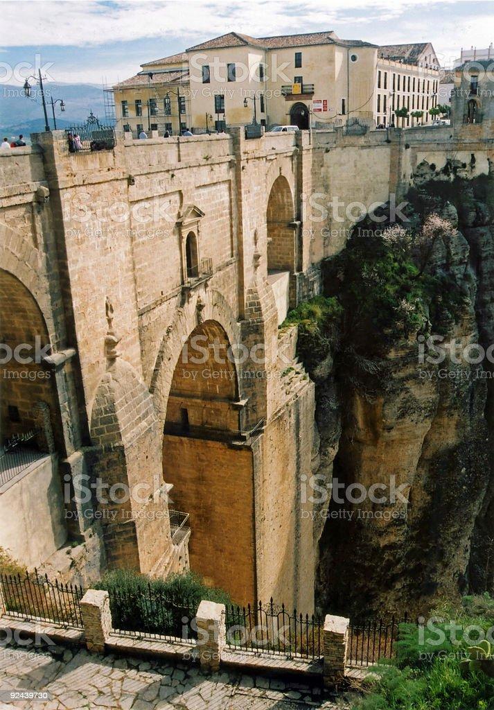 ronda puente nuevo new bridge andalucia spain stock photo