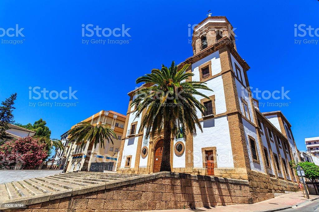 Ronda, Spain at The Merced Carmelite Convent stock photo