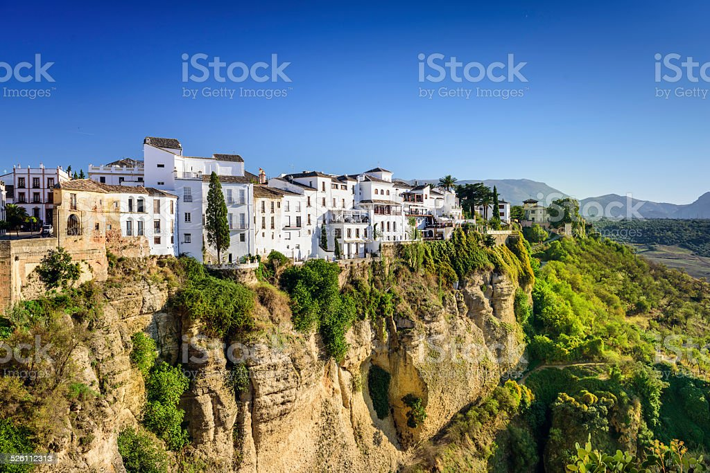 Ronda, Spain Cliffside Town stock photo